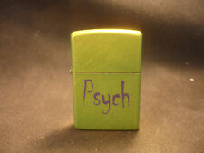 2009 Zippo Cigarette Lighter Lime Green Psych Bradford PA Made In USA