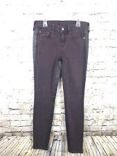 Vince. Womens Mulberry Dark Purple Dylan Skinny Jeans sz 25 Side Stripe