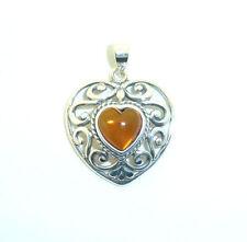 Silver Amber Fine Gemstone Necklaces & Pendants
