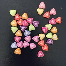 New DIY 50PCS 7mm mix acrylic heart stone bead rainbow Children  handmade beaded