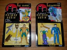 Lot of Batman and Robin Pogo Stick Joker and Ras AL Ghul Kenner Action Figures