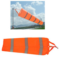 Airport Windsock Wind Cone 80cm Long Outside Wind Sock w/ Reflective Belts JS