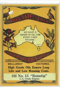 Ronaldson Bros & Tippett Oils Metal Reprod Sign (WAR007)