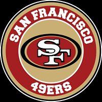 "San Francisco 49ers Circle Logo Vinyl Decal / Sticker CHOOSE SIZE 3'-12"""