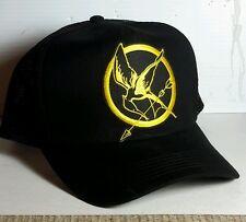 Hunger Games Mockingjay  Logo Baseball/Trucker Cap/HAT-BLACK - FREE S&H