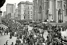 Easter Parade on Fifth Avenue in front of St. Patrick's Cathedral, New York 1904