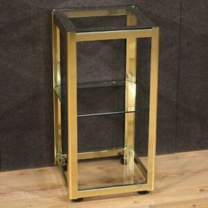Small Table Design Table Metal Three 3 Shelves Glass Furniture Modern Antiques