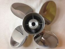 "USED Powertech 4 blade stainless steel propeller PTZ4R16PCL200 14.25 X 16"" pitch"