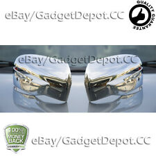 For 2014 2015 2016 2017 Nissan Rogue Chrome Mirror Cover with Turning Signal Cut