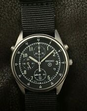 Vintage 1995 Seiko Mens Military RAF Pilots Chronograph Watch Gen 2 7T27 7A20