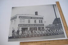 """MONTGOMERY MOTORCYCLE CO~POLICE ON CYCLES~14"""" X 11"""" BLACK & WHITE PHOTO REPRINT~"""