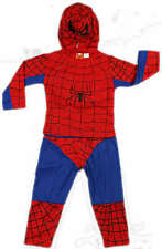 NEW Sz 1~10 COSTUME RED SPIDERMAN SUPERHERO PARTY TOP MASK BOY DRESS KID OUTFITS