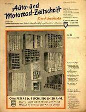Der Auto-Markt 1950 38/50 Auto- und Motorrad-Zeitschrift Ford Stößer-Patent