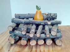 Pear Wood Mini Logs Organic & Heirloom Firepit Chiminea Bbq Grill Smoker 7 Lbs.