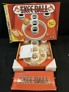 Skee-Ball: Classic Arcade Game Portable Tabletop with Wooden Balls