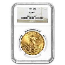 $20 Saint-Gaudens Gold Double Eagle Coin - Random Year - MS-66 NGC - SKU #23196