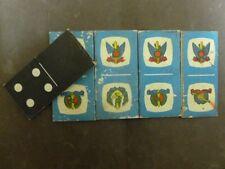 "LOT 5 CHILDREN DOMINO GAME IDF badge ON FRONT 1960"" ISRAEL"
