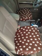 Seat Covers for all Vehicle's with Bucket Seats- BROWN PAWS-Price is for a pair