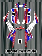 TRX250R TRX 250R HONDA FOURTRAXM SEMI CUSTOM GRAPHICS KIT CLASSIC RETRO 2