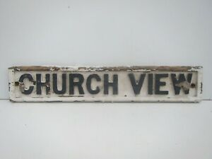 Vintage Church View Wooden Sign