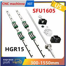 Cnc Sfu1605 Ballscrew Set Rm1605 Bfbk12 Hgr15 Linear Guide Rail 300 1550mm Us