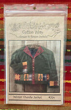 """Sewing Jacket Pattern: """"Winter Chenille Jacket #704"""" by Cotton Way"""