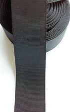 """1.5""""  Solid Black Grosgrain Ribbon - By The Yard - USA Seller"""