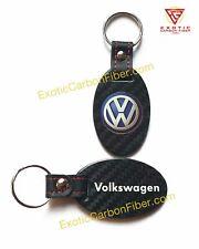 Volkswagen Logo and Script Carbon Fiber Key Fob 2x2 Gloss