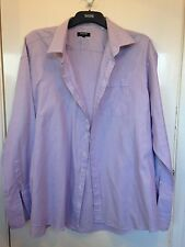Men Italian Classic 100% Cotton Light Purple Shirt Size 19""