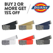 DICKIES 11DI0302 MENS CASUAL BELT ADJUSTABLE MILITARY UTILITY CANVAS COTTON BELT