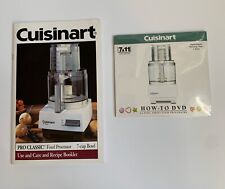 Cuisinart Food Processor Use And Care Booklet And How-to DVD New 7c