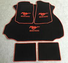 Autoteppich Fußmatten Kofferraum Set für Ford Mustang Coupe orange 94-04 5tlg.