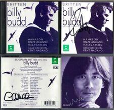 Kent NAGANO, Thomas HAMPSON, MALTMAN Signed BRITTEN BILLY BUDD 2CD Rolfe Johnson