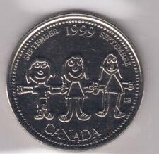 1999 Canada 25-cents Coin ICCS PL-65 September Mule Error Quarter