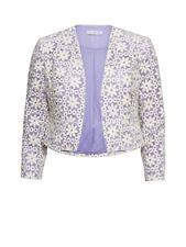 Gina Bacconi Daisy Embroidered Jacket, Spring Lavendar