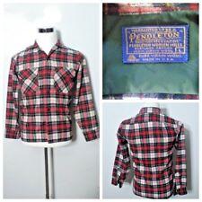 Pendleton Vintage Button Up Wool Men's L Red Plaid High Grade Inv#S8276