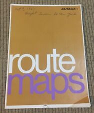 Alitalia Airlines Route Maps from 1967 - All Continents - Rare
