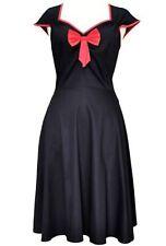 LADY V LONDON Vintage ISABELLA Black RED Pinup SWING Rockabilly RETRO 50s Dress