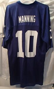Eli Manning New York Giants Men's Size Large Reebok Football Jersey
