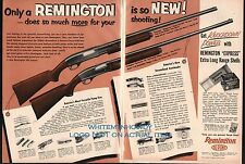 1953 REMINGTON WINGMASTER 870 Deluxe Grade, Sportsman 48 Shotgun 2-page AD