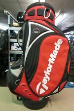 Used Taylormade RAC Custom Fit Irons Staff Golf Bag Red/Black/White