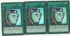 *** 3X POT OF DUALITY 3X *** SUPER RARE PLAYSET YUGIOH CT08-EN008 YUGIOH