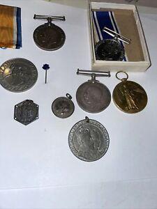 WW1 Medals + Police Medal + Other Medals Etc