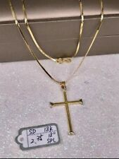 Gold Authentic 18k gold necklace with cross pendant