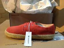 LACOSTE AGOUR SHOES Suede Canvas Sandals Beach Blue Orange Green with Box