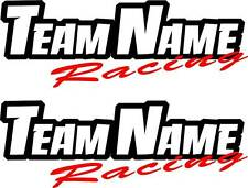 CUSTOM TEAM NAME RACING DECALS personalized text motorcycle stickers graphics