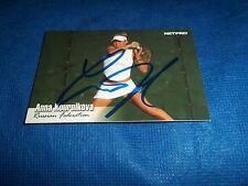 2003 Netpro Anna Kournikova Autographed Tennis Card