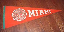 Vintage 1950's-60's University of Miami Hurricanes full-size soft felt PENNANT