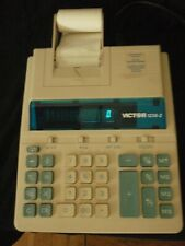 Victor 1230-2 roller printer printing calculator imperfect