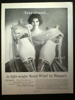 1960 WARNER's Girdle Pretty Lady with dress forms vintage Photo print ad